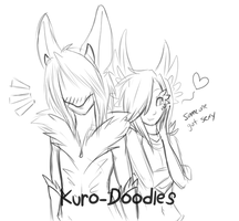 Visored Divvy and Queril by Kuro-Doodles