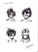 Dragonball Sketches by TWObyKAY