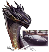 Aventador Dragon by Belka-1100