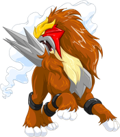 Entei Graphic by lugiagirlz