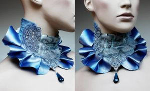 Snow Queen collar by Pinkabsinthe