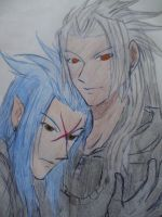 Xemnas and Saix by Kingdom-Heaven