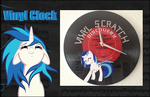 My little Pony FIM Custom Vinyl Scratch Clock by Asukatze