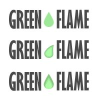 Green Flame Logo Concept by Concept-X