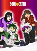 Soul Eater OCs Group pic XD by Swiftspill