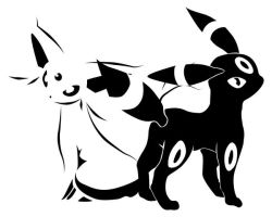 Umbreon + Espeon by exaction