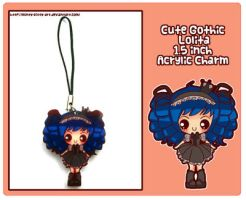 Gothic Lolita Acrylic Charm by Minty-Kitty-Art