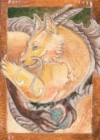ACEO Golden one by Forestia