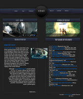 Gaming News Layout by mortallx