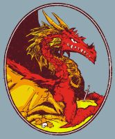 Ancient Red Dragon by tommullin