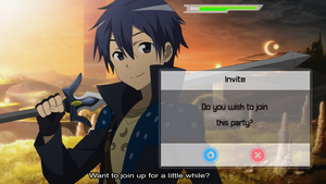 SAO: Will you join Kirito's party? by ShikaUninspired