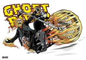 GhostRider in Color by angryrooster