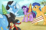 Commission - Beach Party by sophiecabra
