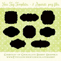 Free Tag Shape Templates by chocolate-rabbit