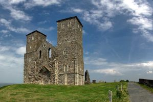 Reculver - 12th century Church by FalseTuned