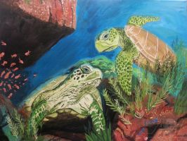 Swimming Turtles by 71ADL17