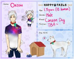 Happy Tails: Orion by saikun13
