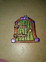 Polymer Clay Fairy Door Pendant 2 by Stargatesg11