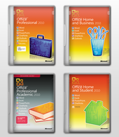 Microsoft Office 2010 Covers by 93matt93