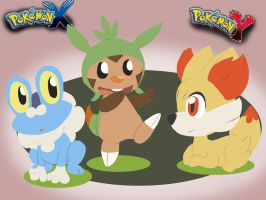 Pokemon X Y Starter by LeniProduction