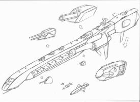Attack Cruiser by Rafafa