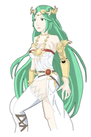 Kid Icarus: Lady Palutena (WIP) by AlSanya