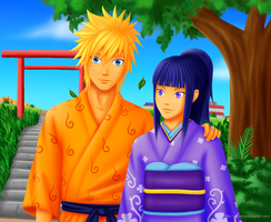 NaruHina: Summer Stroll by AlienNinja