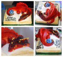 Dungeons and Dragons cake by Cakerific