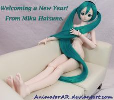 Happy New Year from Miku Hatsune by AnimatorAR