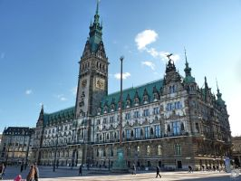 Historical Town Hall Hamburg by IndianRain