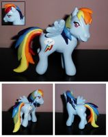 MLP ''Old Meets New'' Custom - Rainbow Dash by UniqueTreats
