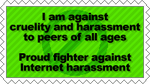 Against Harassment stamp by ZamieCat