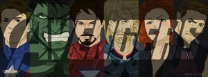 Avengers: Timeline Cover by darthfilart