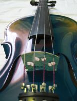 Blue Violin Different Angle by sylvialovesphotos
