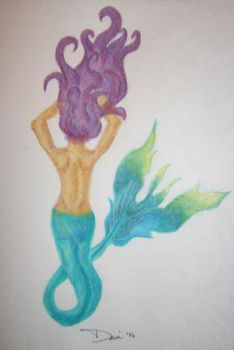 mermaid in pencil by DaniFoFani