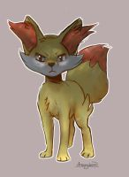Fennekin by dreamybean