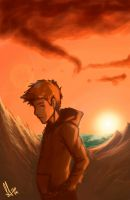 Young Brok in the Sunset by SolKorra