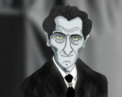 Peter Cushing by Makinita