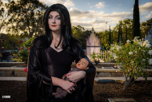 Morticia Addams by MademoiselleMischief