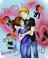Happy 1-Year Anniversary: S and D by Scoric