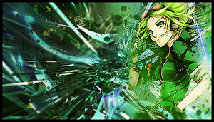 Green Abstract Anime by Ivanuvo