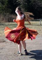 Red Dance Skirt - Spin by Goldenspring