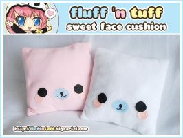 Sweet Face Cushion by Fluffntuff