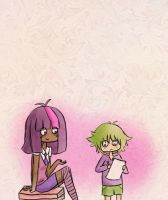 Twilight Sparkle and Spike (Humanized) by dinosauriomutante