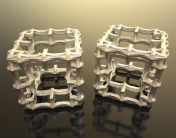 3D Fractal Cube on Shapeways by nic022