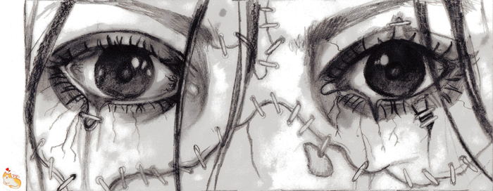 zombie eyes pencil redraw by silent-birdsong