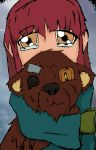 The girl with the Old Bear by LunaricJoker