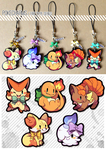 Pokecharms - Fire type by Mi-eau