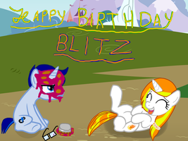 (gift) Birthday Pie to the FACE! by thasbrony