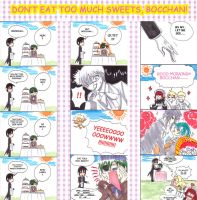 Don't eat too much sweets by gensoukai12